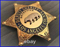 0/ Collector badge, Detective Deputy Sheriff, Los Angel County, Kalifornien