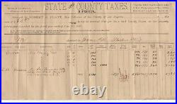 1889 State & County Tax Receipt for James Bell Rosedale Los Angeles CA