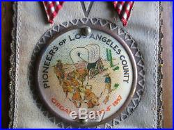 1897 Pioneers of L. A. County Los Angeles, Cal Ribbon Excellent