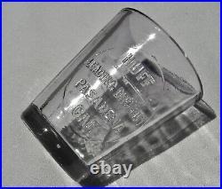 1900 Pasadena California (la Co) Rare Unlist Huff Druggist Drug Dose Glass Af