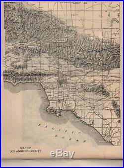 1907 Souvenir Booklet of The City and County of Los Angeles with Photos and Map
