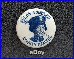 1930's SHIRLEY TEMPLE Vintage LOS ANGELES COUNTY HEALTH DEPT Pinback Button Pin