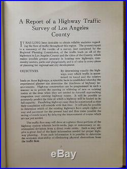 1934 Los Angeles County Highway Traffic Survey Report withMaps EXRARE ORIGINAL