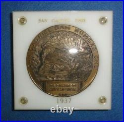 1937 San Gabriel (Calif.) Dam Dedication Medal, Los Angeles County