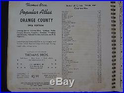 1954 Edition Thomas Bros Popular Atlas, Los Angeles & Orange County, Guide, RARE