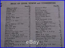 1955 Edition Los Angeles County Atlas, Complete Street Information