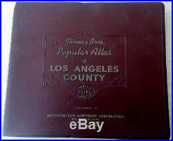 1955 Los Angeles County Thomas Brother Atlas Street Maps LA Popular Bros