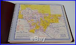1955 Vtg. Thomas Brothers Popular Atlas of Los Angeles County Complete Street