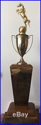 1960 Los Angeles County Sheriff's Rodeo Trophy presented to Actor Dale Robertson