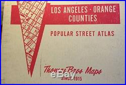 1985 LOS ANGELES COUNTY, ORANGE COUNTIES STREET ATLAS AND By Thomas Brothers
