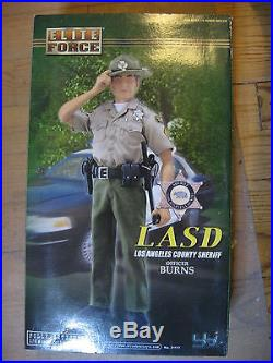 1/6 12 30 cm GI JOE ACTION MAN BLUE BOX LOS ANGELES COUNTY SHERIFF BURNS