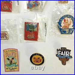 25 LA Los Angeles County Fair Vintage Pins 80s 90s 2000s Lapel Hat Cow Pig USA