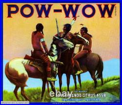306981 San Fernando Los Angeles County Pow-Wow Orange Crate PRINT POSTER PLAKAT