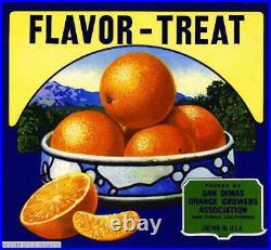 307158 San Dimas Los Angeles County Flavor-Treat Orange Crate POSTER PLAKAT