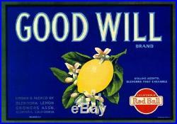 98850 Glendora Los Angeles County Good Will Lemon Decor LAMINATED POSTER FR