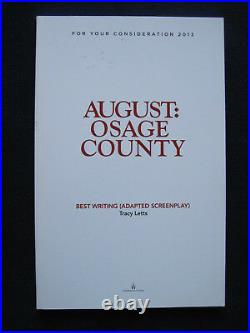 AUGUST OSAGE COUNTY Screenplay 1st Appearance in Book Form MERYL STREEP Film