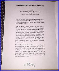 A Profile Of Sam Pekinpah Films Movie Program Los Angeles County Museum Of Art