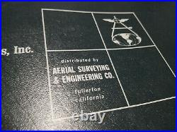 Aerial Photomap Book Los Angeles County Fullerton Surveying Engineering 1965 Map