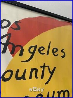 Alexander Calder Los Angeles County Museum of Art Lithograph Framed. Very Rare