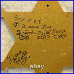 Amazing Vintage Plaque Deputy Sheriff Los Angeles County Badge 12 Across