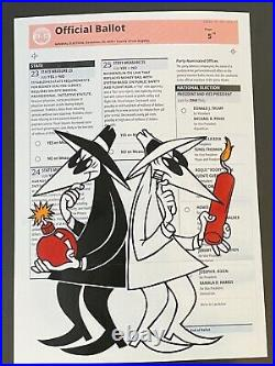 Ben Frost SPY vs SPY Los Angeles County Official Ballet Print Card 8.25x5.75