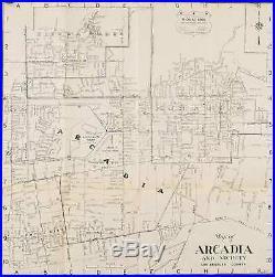 CALIFORNIA ARCADIA / Map of Arcadia and Vicinity Los Angeles County 1947