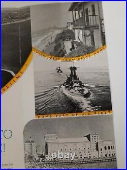 CALIFORNIA Long Beach 1920s-30s BROCHURE Travel VACATION Los Angeles County