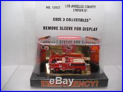 Code 3 Collectibles Los Angeles County Crown Emergency 51 #12957 1/64 Scale