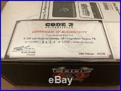 CODE 3 NEW Los Angeles County Frieghtliner Engine 79 #12085 lmtd ed. Certificate