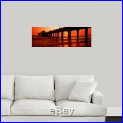 Canvas Art Print Manhattan Beach Pier, Manhattan Beach, Los Angeles County