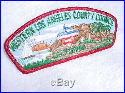 Cb- Vintage Bsa Patch Western Los Angeles County