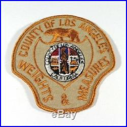 County of Los Angeles California CA Weights & Measures 4 Tan Twill Cloth Patch