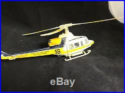 County of Los Angeles Fire Department Bell 412 Helicopter Metal Model Toy RARE