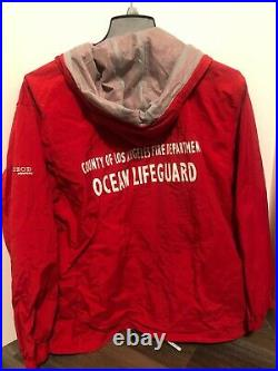 County of Los Angeles Ocean Lifeguard Official Jacket Men's L Izod PerformX