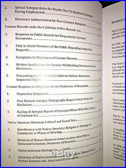 County von Los Angeles 2016 California CORONER'S Law Buch Medizinischen Examiner