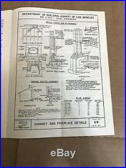 Dwelling House Requirements 1947 Los Angeles County Booklet Dept Building Safety