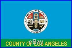 Fahne Flagge Los Angeles County 150 x 250 cm Bootsflagge Premiumqualität
