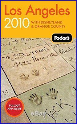 Fodor's Los Angeles 2010 With Disneyland & Orange County Travel Brand New