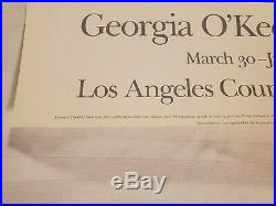 Georgia O'Keeffe 1989 Calla Lilly Art Poster Los Angeles County Museum of Art