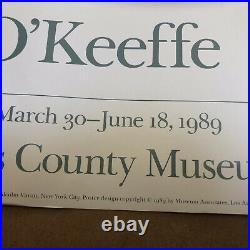 Georgia O'Keeffe Red Poppy 1928 Los Angeles County Museum Poster 24x20