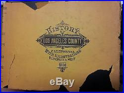HISTORY of Los Angeles County CA 1880 Illustration Thompson West- old rare book