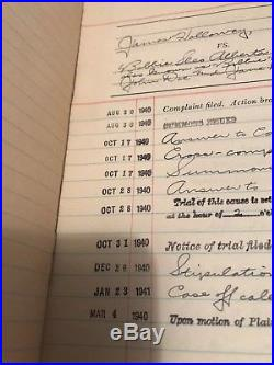 JUSTICE COURT VENICE TOWNSHIP Civil Cases Docket 1940-41 Los Angeles County