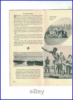 Jeux Olympiques 1932 Los Angeles County California Brochure Été Art Déco