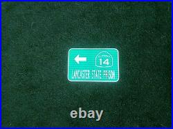 LANCASTER STATE PRISON, California route road sign 18x12, Los Angeles County