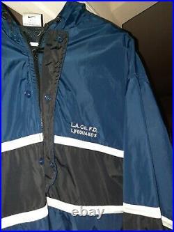 LA Los Angeles County Ocean Lifeguard Official Windbreaker Jacket XL