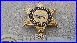 Los Angeles County Deputy Sheriff Badge Rll Mfg Obsolete Repro Novelty