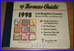 LOS ANGELES COUNTY STREET GUIDE DIRECTORY 1998 THOMAS GUIDE Mint Condition