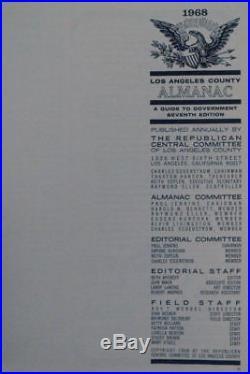 Los Angeles County Almanac 1968 California Repubblicano Party Guida a Politica