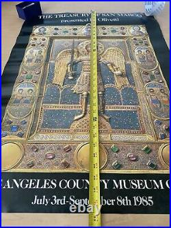 Los Angeles County Art Museum Poster Olivetti 1985 Treasury Of San Marco 24x33