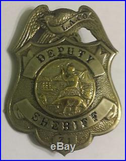 Los Angeles County California Deputy Sheriff Badge HM Los Angeles Rubber Stamp